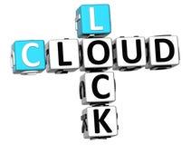 3D kędziorka chmury Crossword Zdjęcia Stock