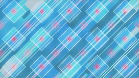 蓝色几何图形的三维绘制 计算机生成的循环动画 几何运动模式 4k 向量例证