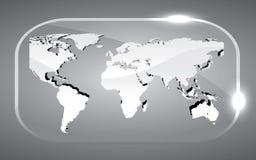 3D kaartwereld Stock Fotografie