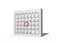 3D kalendarz Obrazy Royalty Free