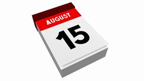 3D kalendarz - Sierpień