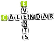 3D kalendarza wydarzeń Crossword ilustracja wektor