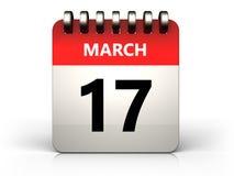 3d 17 kalender för marsch Royaltyfria Foton