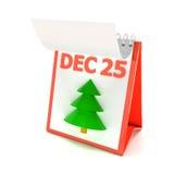 3d kalender van de Kerstmisdag, geeft terug Stock Foto