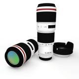 3d kamery obiektyw na białym tle Zdjęcie Stock