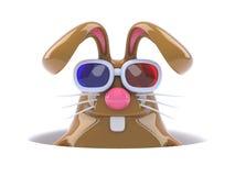 3d kanin för överraskning 3d Arkivfoto