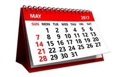 3d kann Kalender 2017 Stockbilder