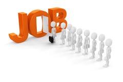 3d kans van de mensen nieuwe baan stock illustratie