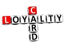 3D karty lojalności Crossword Zdjęcia Stock