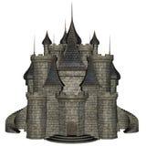 3D kasteel - geef terug Royalty-vrije Stock Afbeelding