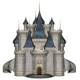 3D kasteel - geef terug Stock Afbeelding