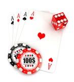 3d kasyna akcesoria Obrazy Stock