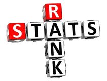 3D kategorii Stats Crossword Fotografia Stock