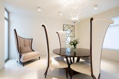 3d kawowy szkła stołu biel zdjęcie stock