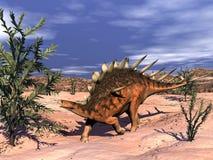3D Kentrosaurusdinosaurus - geef terug royalty-vrije illustratie