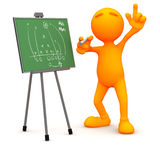3d Kerel: De Strategie van de planningsvoetbal Stock Fotografie