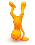 3d Kerel: Het doen van een Handstand Stock Afbeeldingen