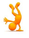 3d Kerel: Het in evenwicht brengen op Één Hand Stock Fotografie