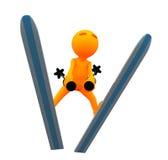 3d Kerel: Olympisch Ski Jumper Stock Afbeeldingen