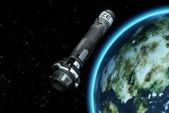3D Kern-Rocket Launch Stockbilder