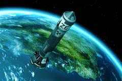 3D Kern-Rocket Launch Lizenzfreie Stockfotografie