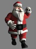 3D Kerstman Stock Illustratie