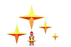 3d Kerstman speelt concept mee Stock Foto
