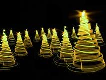 3D Kerstmisboom Stock Afbeeldingen