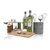 3d - keukenmateriaal Stock Fotografie