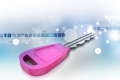 3d key. In color background Stock Images