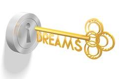 3D key concept - dreams stock illustration