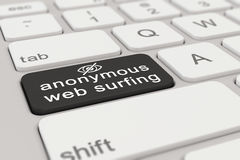 3d - keyboard - anonymous web surfing - black Royalty Free Stock Photography