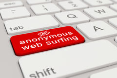 3d - keyboard - anonymous web surfing - red Royalty Free Stock Images