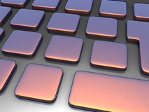 3D Keyboard Royalty Free Stock Images