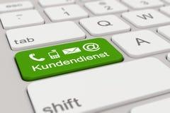 3d - keyboard - Kundendienst - green Stock Photo