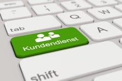 3d - keyboard - Kundendienst - green Stock Photos