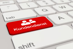 3d - keyboard - Kundendienst - red Stock Photos