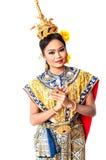 """ d'""""Khon†d'art de danse de la Thaïlande ce de première qualité de la danse au Siam Images stock"""