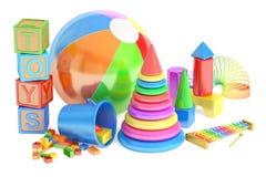 3D Kids toys concept royalty free illustration