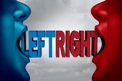 3d kierunku dobro ilustracyjny lewy polityczny odpłacający się Obraz Royalty Free