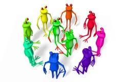 3D kikkers - overeenkomst Royalty-vrije Stock Foto's