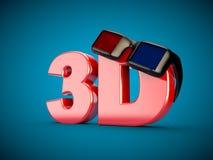 3D Kinfofilm-Film Fernsehen Gläser des Kinos 3D Stockfoto
