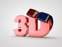 3D Kinfofilm-Film Fernsehen Gläser des Kinos 3D Stockfotografie