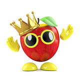 3d King apple Royalty Free Stock Photography