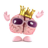 3d King brain Royalty Free Stock Images