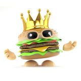 3d King burger Royalty Free Stock Image
