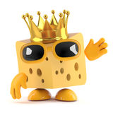 3d King cheese vector illustration