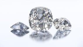 3D Kissen-Diamantstein der Illustration drei stock abbildung