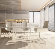3d Kitchen / Dining Room Interior Royalty Free Stock Photography