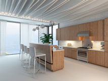 3d Kitchen / Dining Room Interior Stock Photo